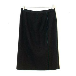 Marc Jacobs Size 10 Black Wool Pencil Skirt Lined